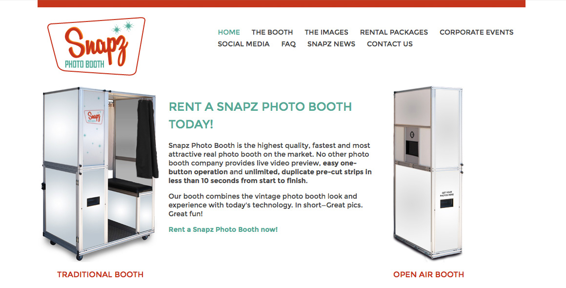Snapz Photo Booth site